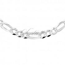 Łańcuszek diamentowany figaro płaskie pr. 925 Ø 0200