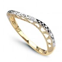 Złoty pierścionek z diamentem PXD2715 próba 585