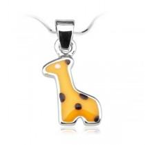 Wisiorek srebrny Żyrafa WDE2931