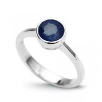 Srebrny pierścionek z SZAFIREM PDS4394S