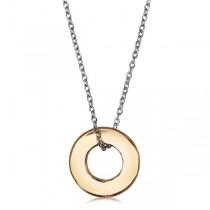 Naszyjnik srebrny z zawieszką pokrytą złotem