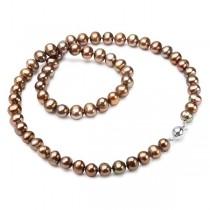 Naszyjnik z naturalnych pereł hodowlanych ze srebrem 925