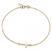 Złota bransoletka z krzyżykiem Bzx4685 próba 585