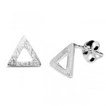 Kolczyki srebrne trójkąty