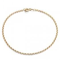Złota łańcuszkowa bransoletka pr. 585