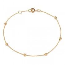 Złota bransoletka z kuleczkami pr. 585