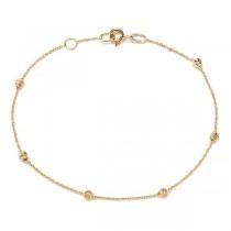 Złota bransoletka z kuleczkami Bzx4863 próba 585
