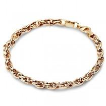 Złota łańcuszkowa bransoleta pr. 585