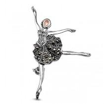 Broszka srebrna baletnica Markazyty