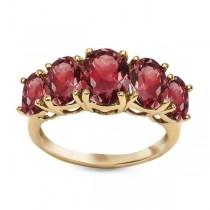 Złoty pierścionek z Granatem PZG5087 próba 333