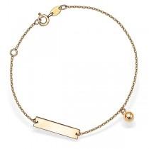 Złota bransoletka z zawieszką
