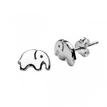 Kolczyki srebrne słoniki