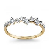 Złoty pierścionek z cyrkonią PZC5001 próba 333