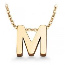 Złoty naszyjnik z literą M WZX518M próba 333
