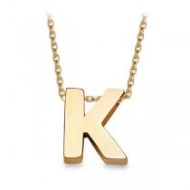 Złoty naszyjnik z literą K WZX518K próba 333