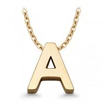 Złoty naszyjnik z literą A WZX518A próba 333