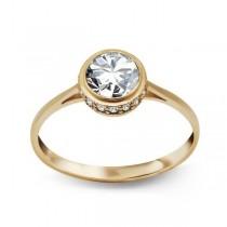 Złoty pierścionek z cyrkonią PXC5202 próba 333