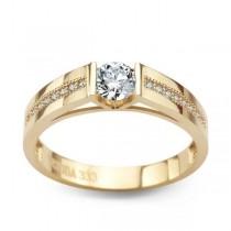 Złoty pierścionek z cyrkonią PXC5212 próba 333