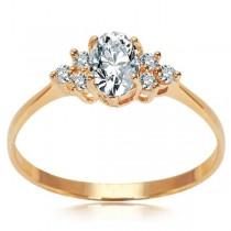 Złoty pierścionek z cyrkonią PXC5233 próba 333