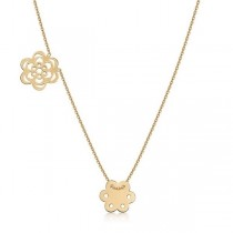 Złoty łańcuszek kwiatuszki NXC5437 próba 333