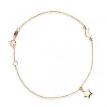 Złota bransoletka z gwiazdą i księżycem BXX5449 próba 333