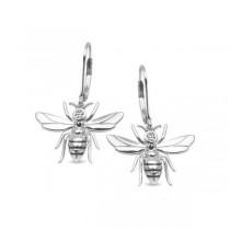 Kolczyki srebrne pszczoły z cyrkonią KSR0004