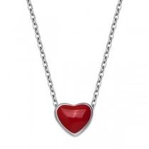 Naszyjnik srebrny z sercem NSR5519
