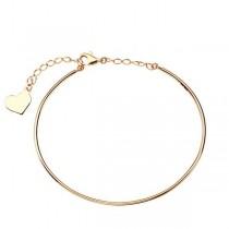 Złota bransoletka z zawieszką serduszko BXX5520 próba 333