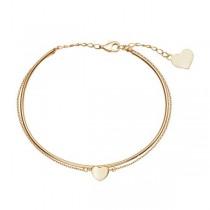 Złota bransoletka z sercem BXX5521 próba 333