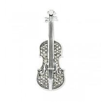 Srebrna broszka skrzypce RDM5525