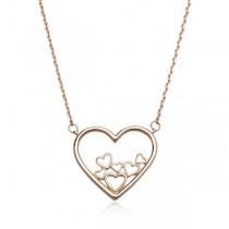 Złoty naszyjnik serca NXC5536
