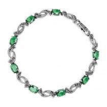 Piękna bransoleta srebrna z Markazytami BSC5542