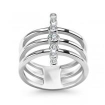 Srebrny pierścionek z cyrkoniami PDK5619