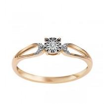 Złoty pierścionek z diamentem PXD5639