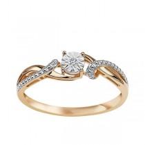 Złoty pierścionek z diamentem PXD5640