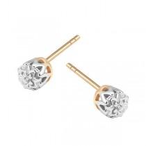 Złote kolczyki z diamentem KZD5653