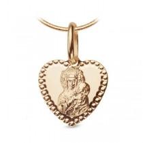 Złoty medalik z wizerunkiem Matki Boskiej WZX5732