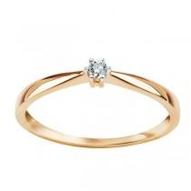 Złoty pierścionekz DIAMENTEM PXX5819