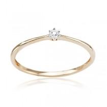 Złoty pierścionek z DIAMENTEM PXD5829