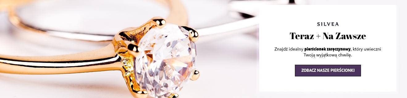 Pierścionki zaręczynowe złote z diamentem